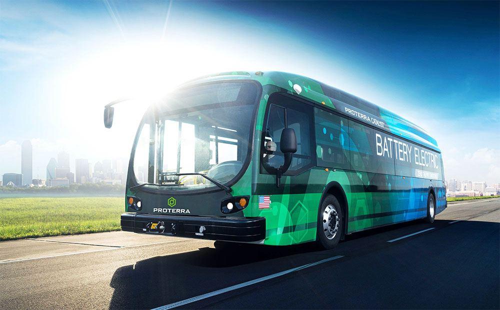 Imagen de un autobus eléctrico