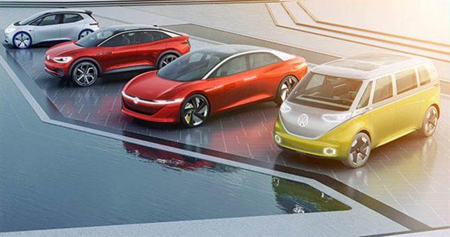 Foto de los diferentes modelos de la gama ID de Volkswagen