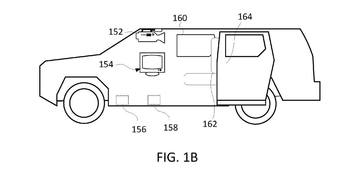 Foto de la patente presentada por Rivian del modo Guardián