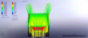 Prueba aerodinamica Tesla CyberTruck - frontal