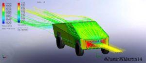 Prueba aerodinamica Tesla CyberTruck - trasera