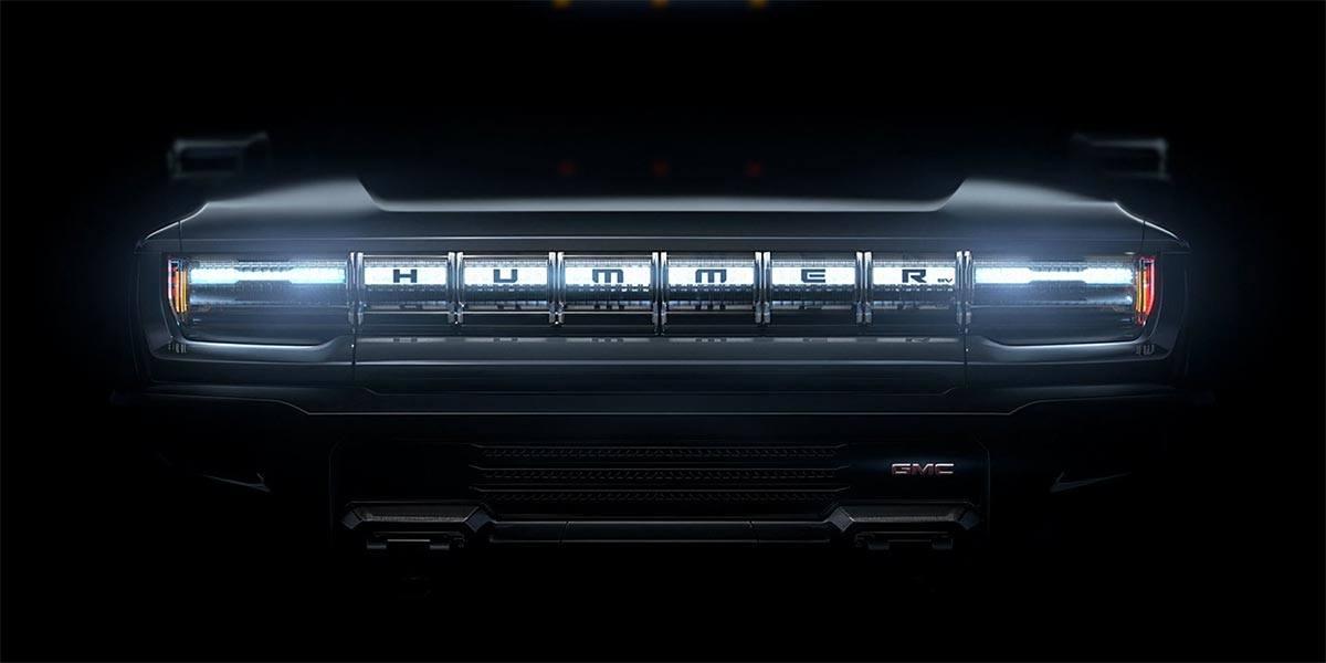 Foto del teaser de la Hummer eléctrica de GMC
