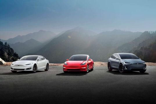 Foto del Tesla Model S, Model X y Model 3