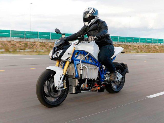 Prototipo de la moto eléctrica de BMW