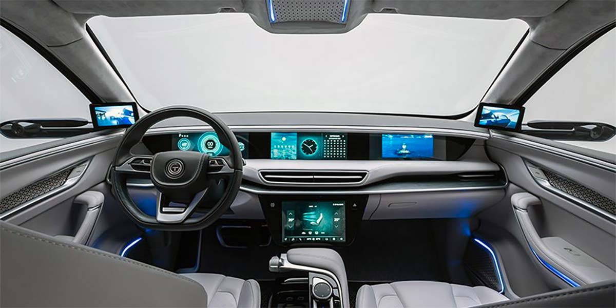 Interior del SUV eléctrico del fabricante TOGG