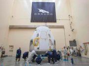 nave Crew Dragon de SpaceX para llevar a los astronautas a la Estación espacial internacional