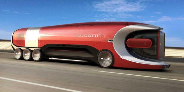 Diseño del camión eléctrico de Bugatti, El Hyper Truck Concept