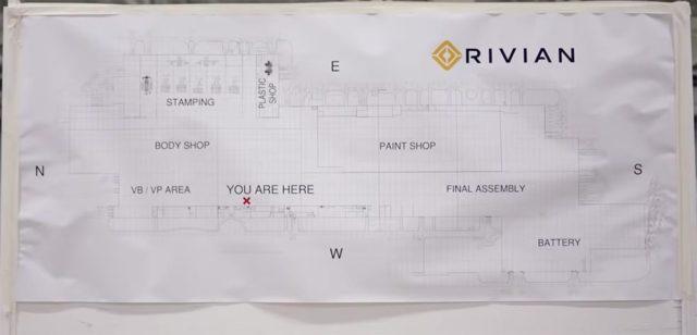 Plano de la fábrica de Rivian