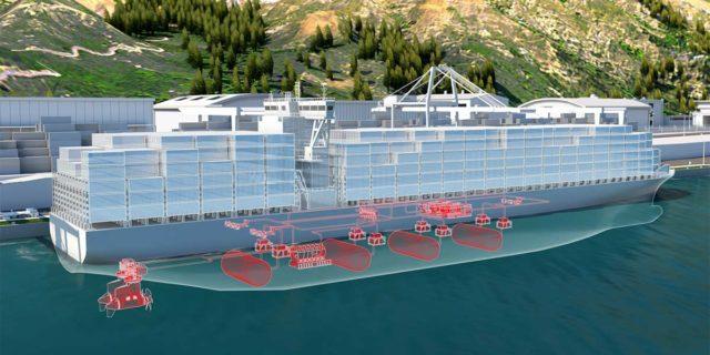 Foto del sistemas de hidrógeno propuesto por ABB para buques cargueros