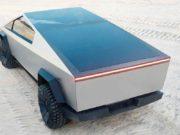 Placas solares en el techo de la Tesla Cybertruck