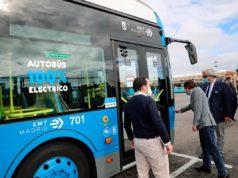 Foto de uno de los autobuses eléctricos del fabricante BYD en Madrid