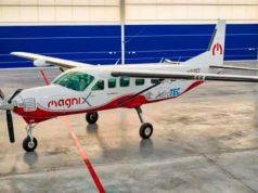 Foto de una Cessna Caravan adaptada para ser totalmente eléctrico. Cessna eCaravan