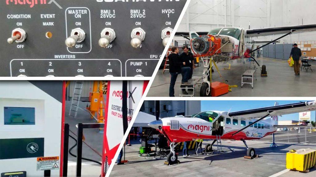 Detalles de la Cessna eCaravan, avioneta 100% eléctrica