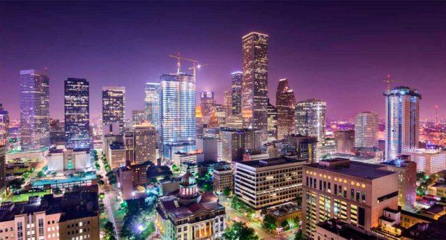 Foto de la ciudad de Houston (Estados Unidos) de noche