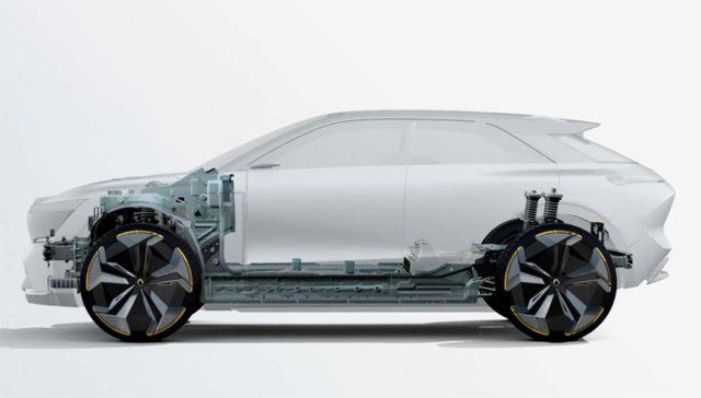 Estructura de un coche eléctrico de Renault