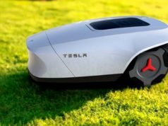 Foto conceptual de Tesla G, el cortacesped