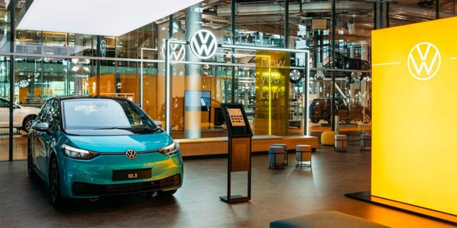 Foto de la primera tienda de Volkswagen para mostrar el ID.3