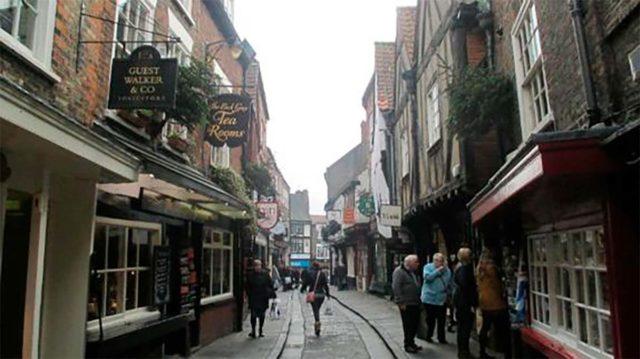 calle en la ciudad de York - Reino Unido