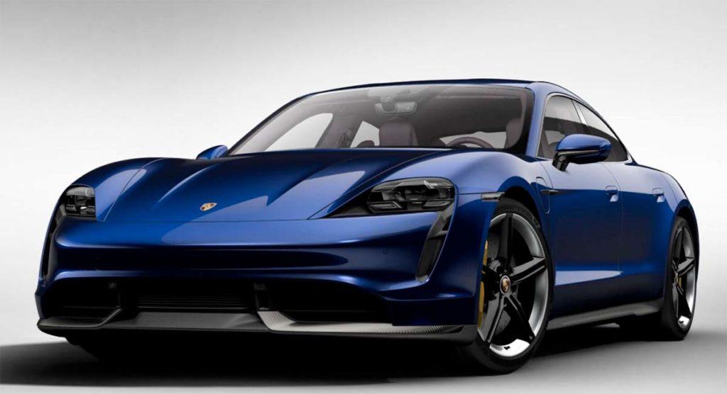 Porsche Taycan en azul genciana