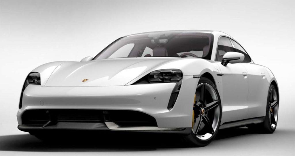 Porsche Taycan en blanco