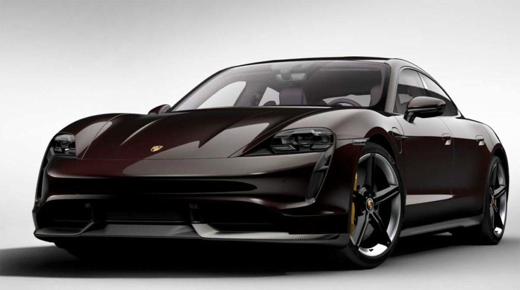 Porsche Taycan en Caoba metalizado