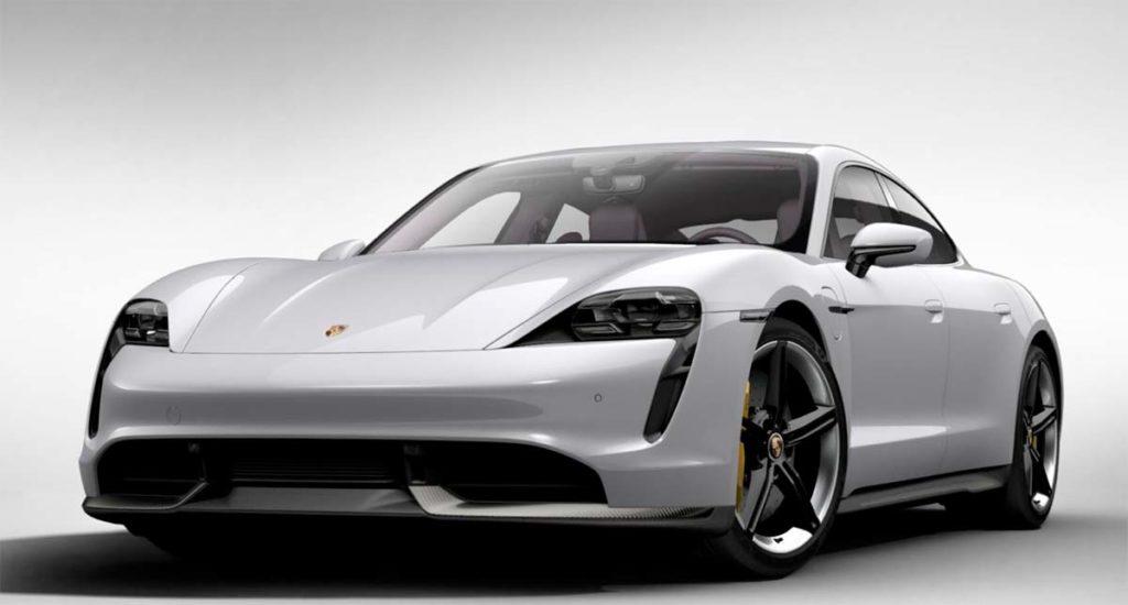 Porsche Taycan en Carrera White