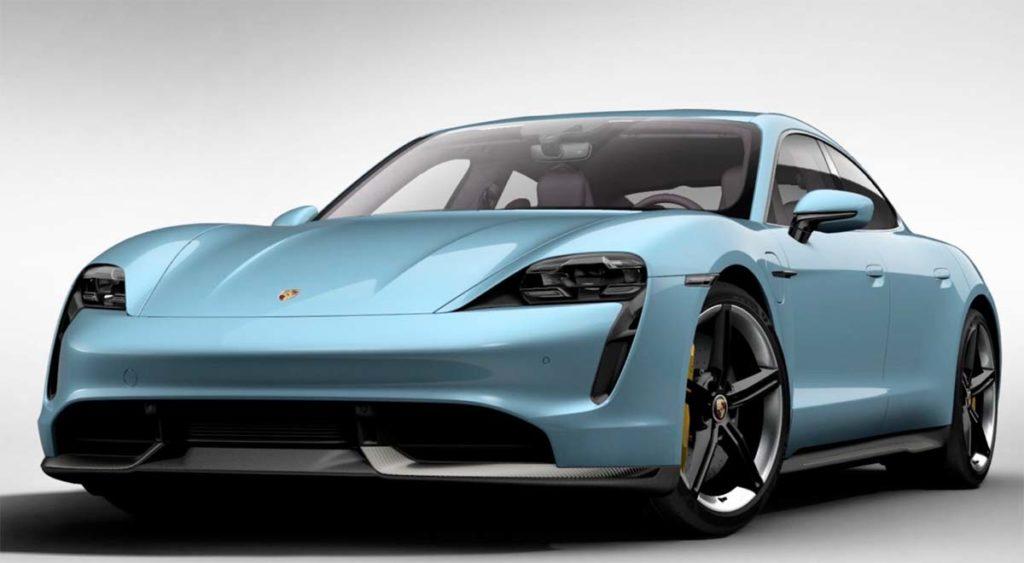 Porsche Taycan en Frozen Blue