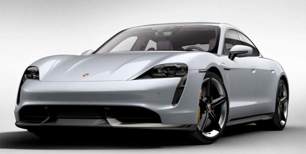 Porsche Taycan en Ice Grey