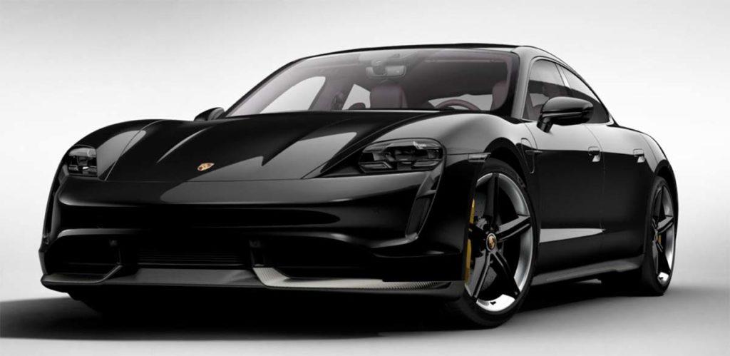 Porsche Taycan en Jet Black