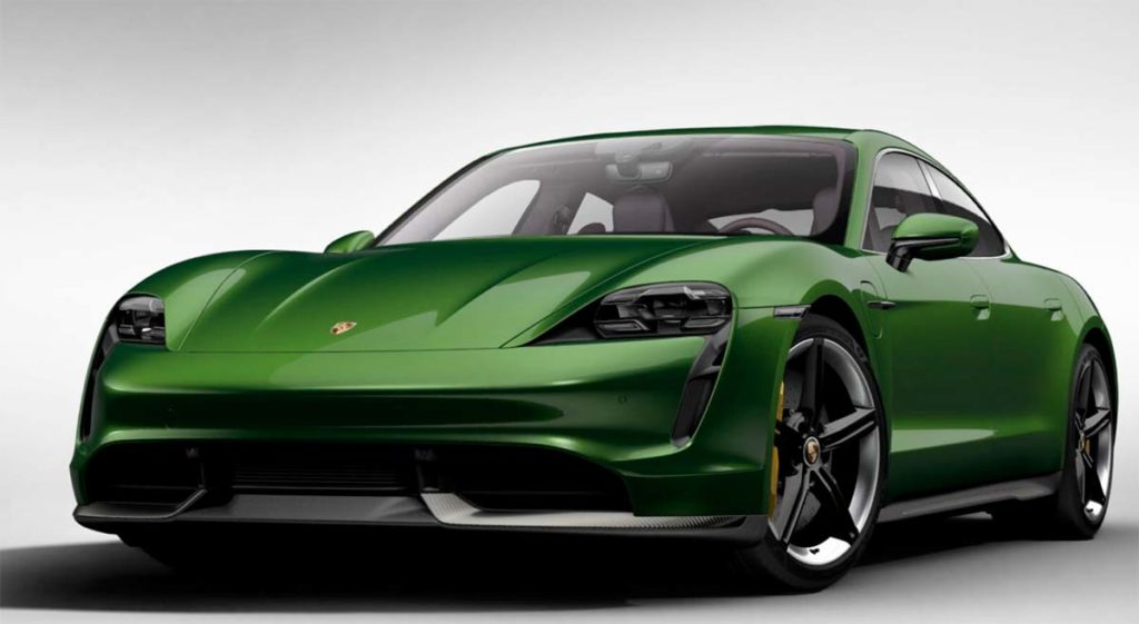 Porsche Taycan en Mamba Green