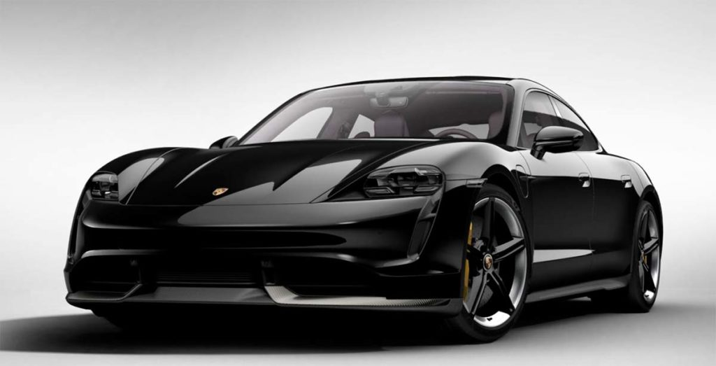 Porsche Taycan en Negro