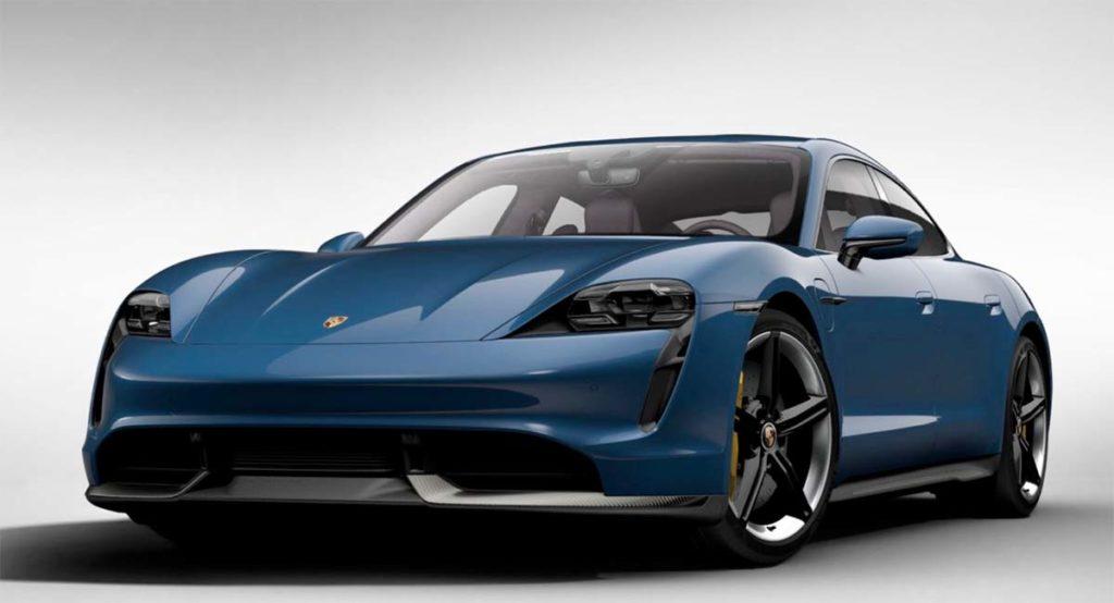 Porsche Taycan en Neptune Blue