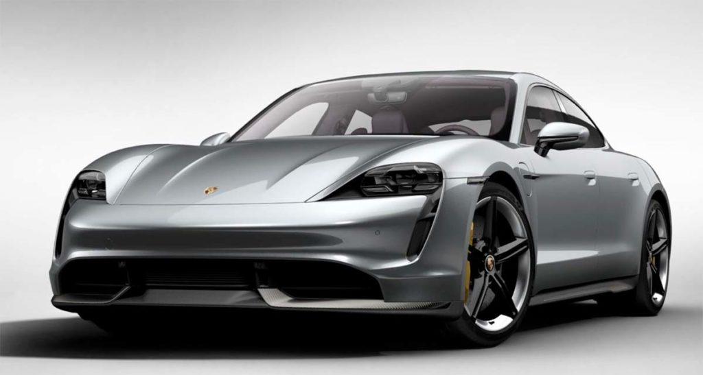 Porsche Taycan en Plata dolomita