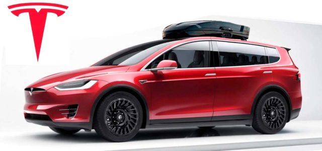Diseño de la posible furgoneta eléctrica de Tesla para 12 personas