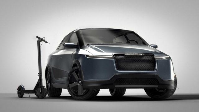 patinete-electrico-Lupa-QNi-junto-coche-electrico-Lupa-E26