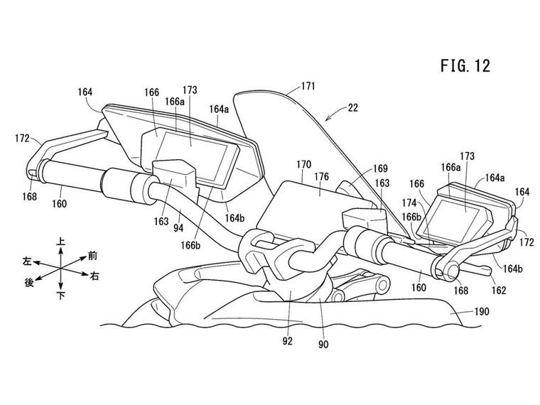 Honda-patente-motocicleta-electrica-inspirada-modelo-Grom_retrovisores-pantalla-frontal