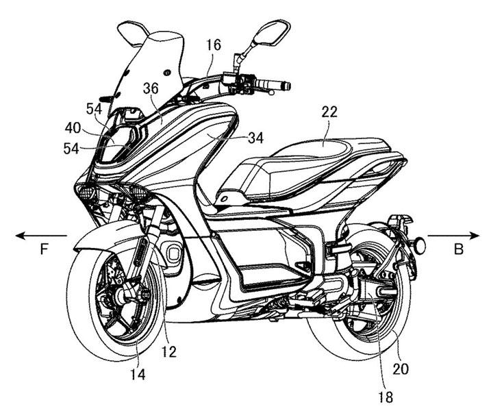 Patente-scooter-electrica-produccion-Yamaha-E01