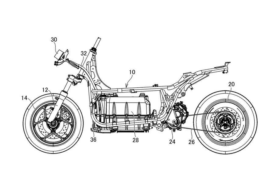Patente-scooter-electrica-produccion-Yamaha-E01_lateral