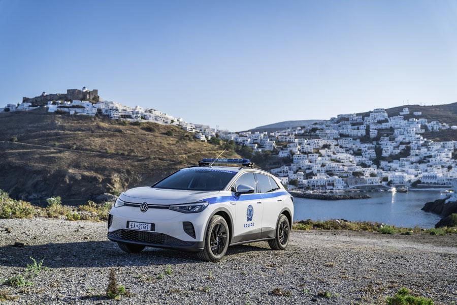 Volkswagen-ID-4-coche-policia-isla-griega-Astypalea