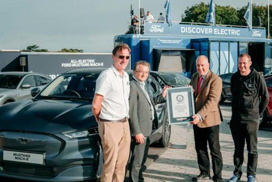 El Ford Mustang Mach-E logra un Récord Guinness en eficiencia