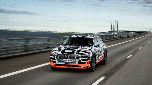Imagen del Audi e-tron Quattro en pruebas