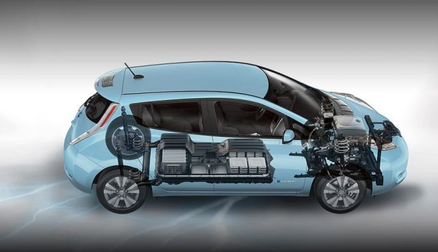 Imagen gráfica de las baterías del Nissan leaf