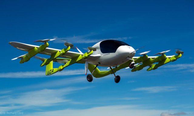 Imagen del Cora, taxi volador autónomo de Kitty Hawk