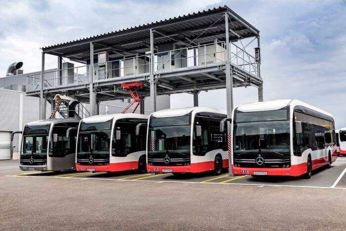 Punto de carga de Daimler para buses eléctricos