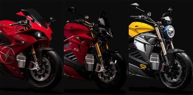 Foto de las diferentes motos eléctricas de Energica