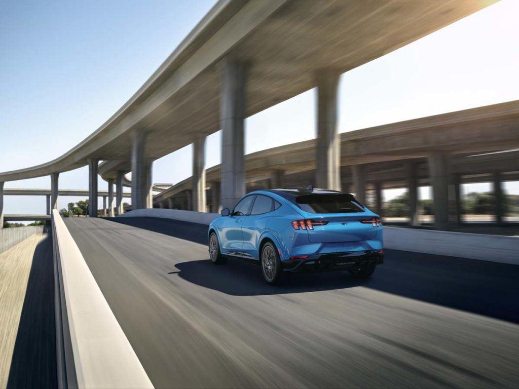 Foto de la trasera del Ford Mustang Mach E