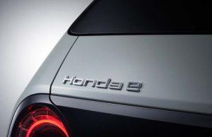 Honda E - detalle marca trasera