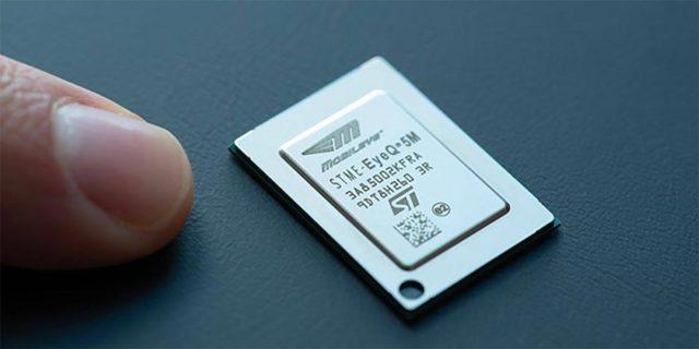 Microprocesador de Intel Mobileye para la conducción autónoma