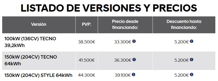 Listado-Versiones-Precios_Hyundai-Kona-EV