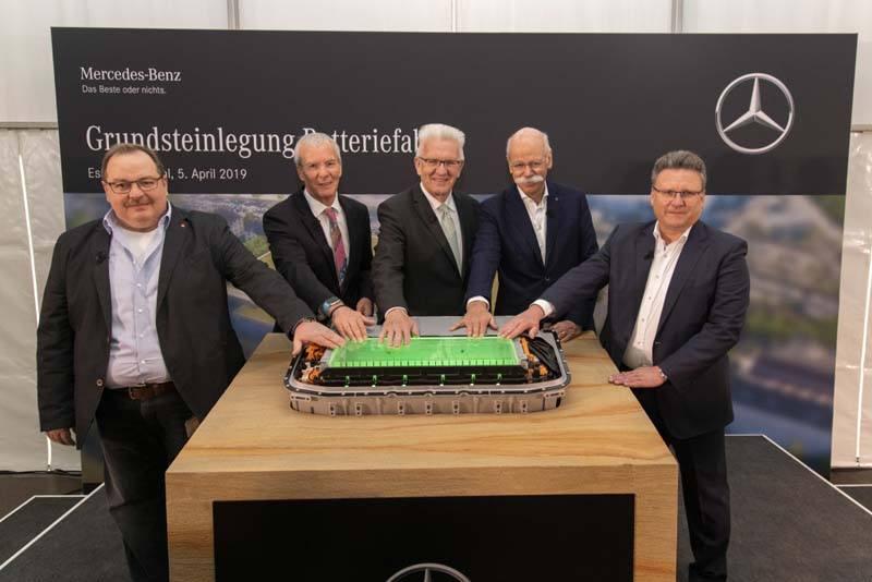 Mercedes-Benz-primera-piedra-fábrica-baterías-Unterturkheim-alemania